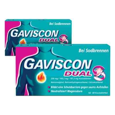 GAVISCON Dual 250 mg, 106,5 mg, 187,5 mg Kautabletten  bei versandapo.de bestellen
