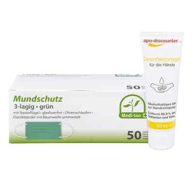 Mundschutz Maske und Hände-Desinfektionsgel  bei versandapo.de bestellen