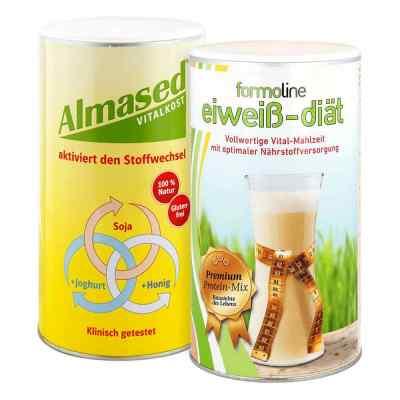 Almased Vitalkost und Formoline Eiweiss Diät Pulver  bei versandapo.de bestellen