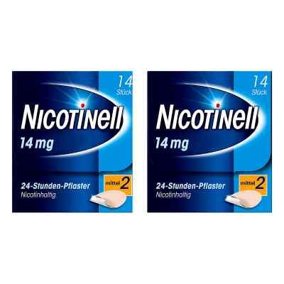 Nicotinell Paket 14 mg (ehemals 35 mg) 24-Stunden-Pflaster  bei versandapo.de bestellen