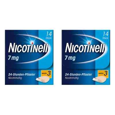 Nicotinell Paket 7 mg (ehemals 17,5 mg) 24-Stunden-Pflaster  bei versandapo.de bestellen