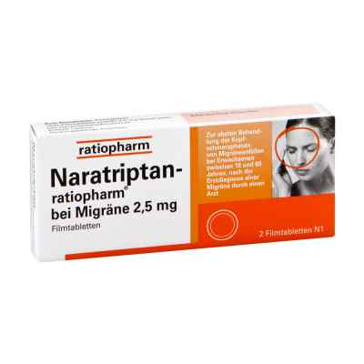Naratriptan-ratiopharm bei Migräne 2,5mg  bei versandapo.de bestellen
