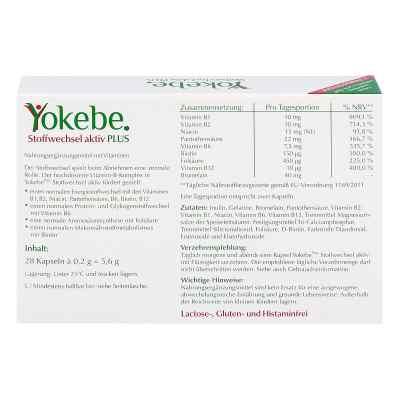 Yokebe Plus Stoffwechsel aktiv Kapseln  bei versandapo.de bestellen