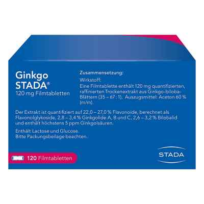 Ginkgo STADA 120mg  bei versandapo.de bestellen