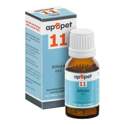 Apopet Schüssler-salz Nummer 11 Silicea D12 Globuli veterinär  bei versandapo.de bestellen