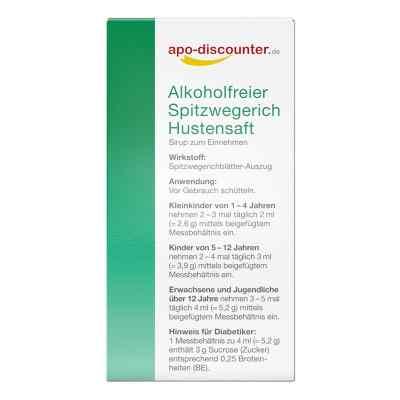 Alkoholfreier Spitzwegerich Hustensaft von apo-discounter  bei versandapo.de bestellen