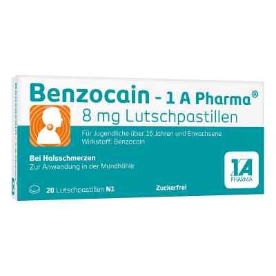 Benzocain-1A Pharma 8mg Lutschpastille  bei versandapo.de bestellen