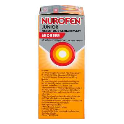 Nurofen Junior Fieber-u.schmerzsaft Erdbe.40 mg/ml  bei versandapo.de bestellen