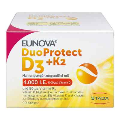 Eunova Duoprotect D3+k2 4000 I.e./80 [my]g Kapseln  bei versandapo.de bestellen