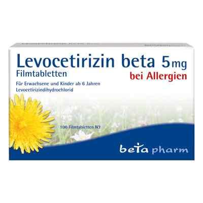 Levocetirizin beta 5 mg Filmtabletten  bei versandapo.de bestellen