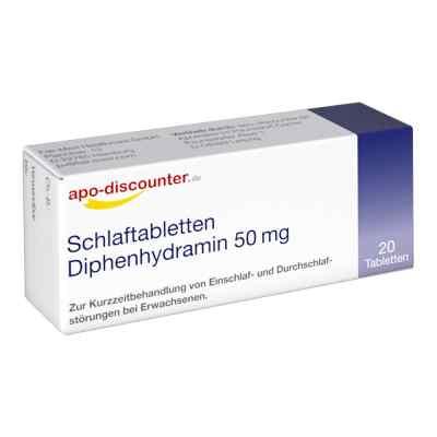 Schlaftabletten Diphenhydramin apo-discounter 50 mg Tabletten  bei versandapo.de bestellen