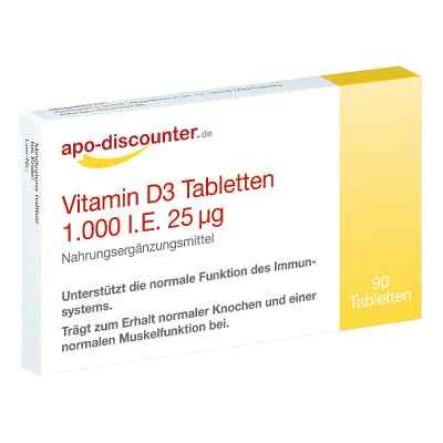 Vitamin D3 Tabletten 1000 I.e. 25 [my]g  bei versandapo.de bestellen
