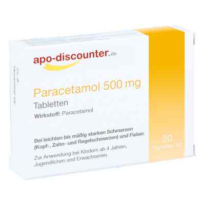 Paracetamol 500 mg Tabletten von apo-discounter  bei versandapo.de bestellen